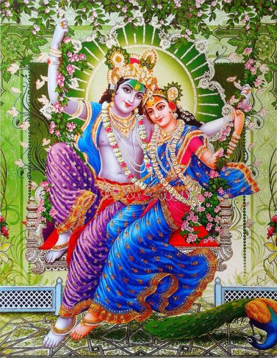 Radha Krishna Swinging