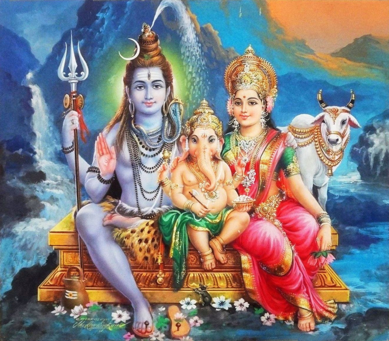 Image result for ganesha with shiv and parvati