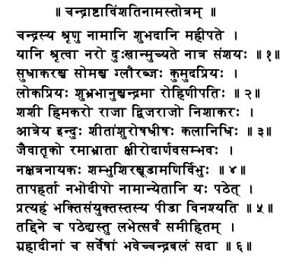 chandra ashtvishatinaam stotra - Chandra Stotram
