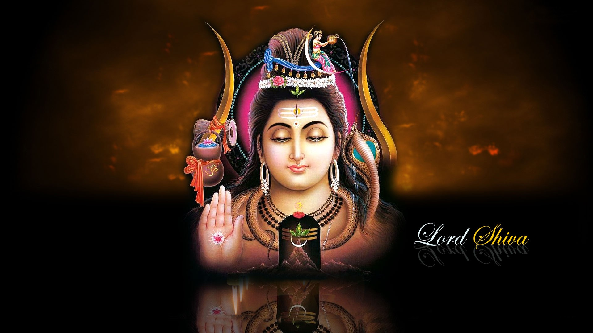 Lord Shiva HD Background Wallpaper