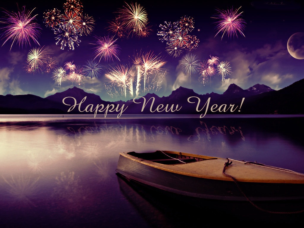 Happy New Year Wallpapers With Boat