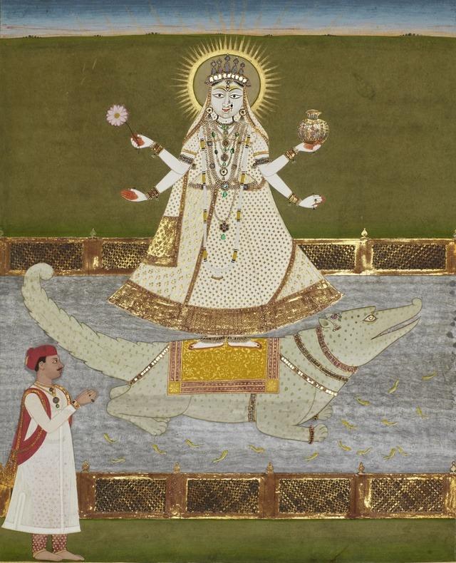 Bhagiratha and the Goddess Ganga, India, Jaipur, 18th century