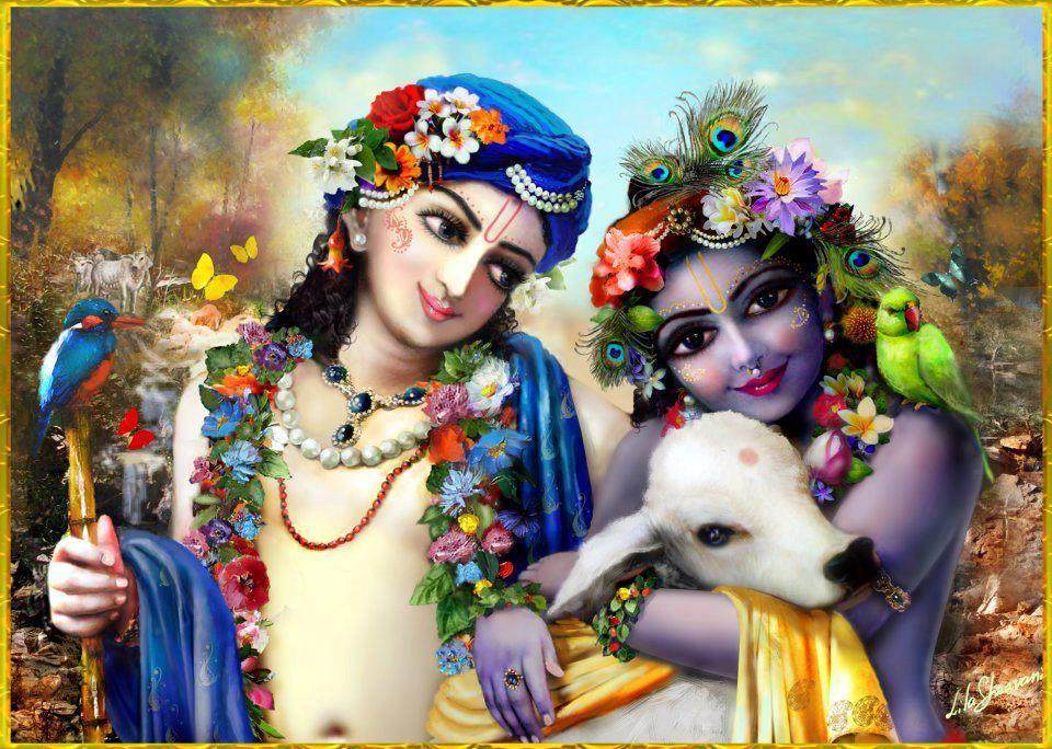 Lord Krishna With Balram