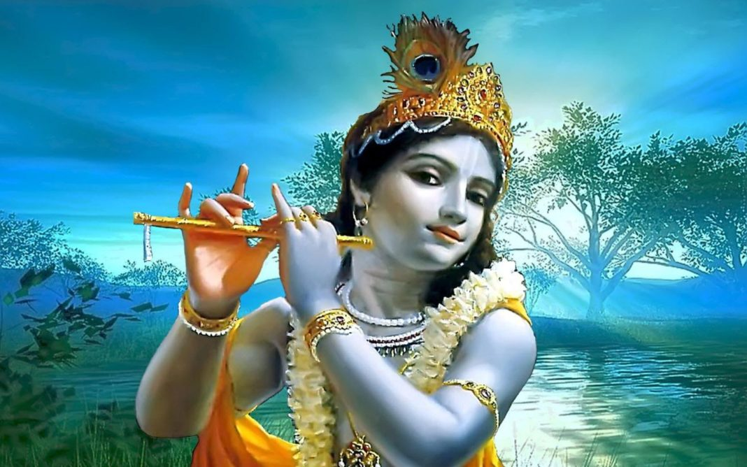 Lord Krishna Image with Flute