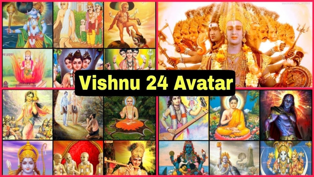 All 24 avatars of Lord Vishnu