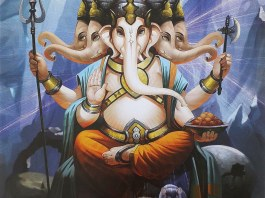 Panchmukhi Ganesha Art