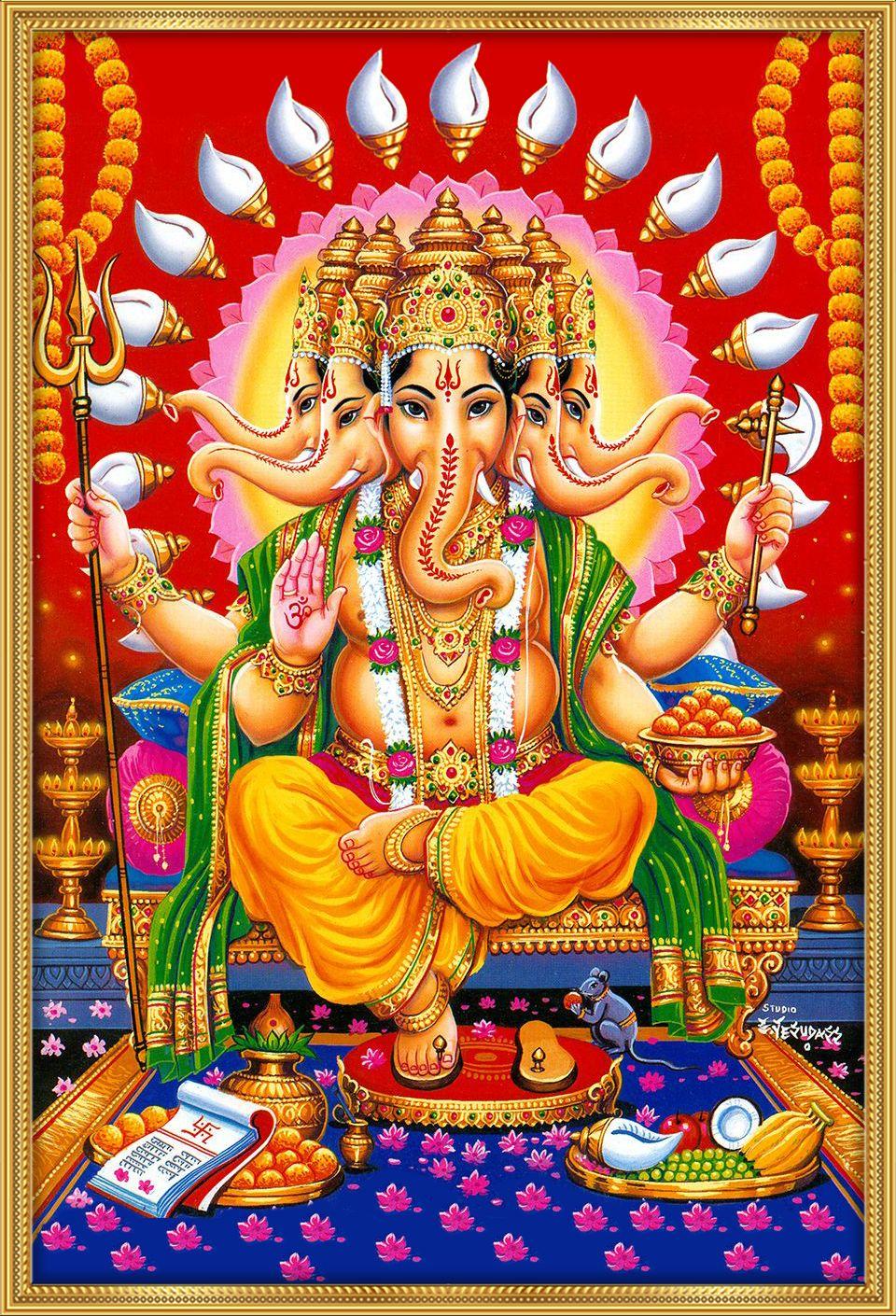 Panchmukhi Ganesha Sitting