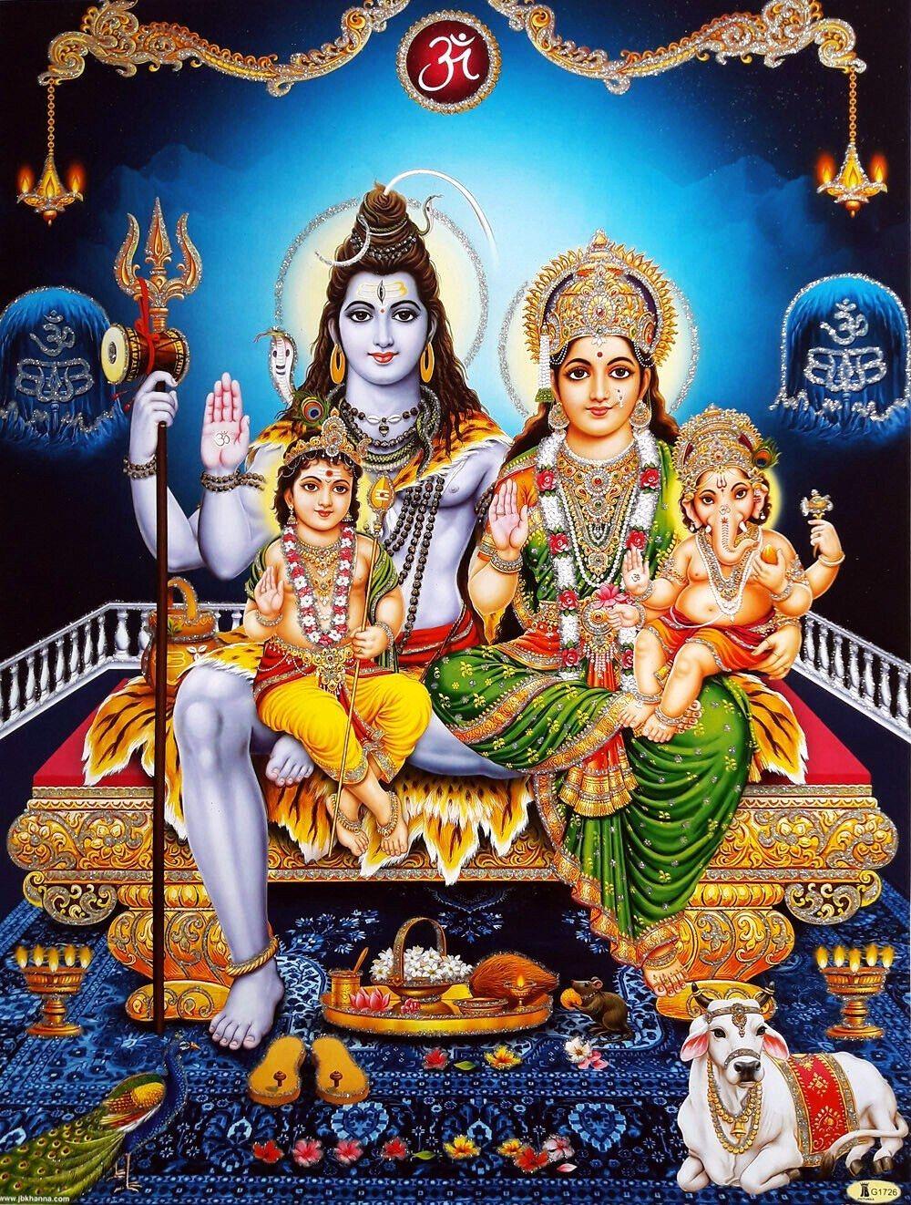 Lord Shiva Family Sitting