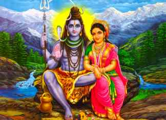 Lord Shiva and Mata Parvati Sitting