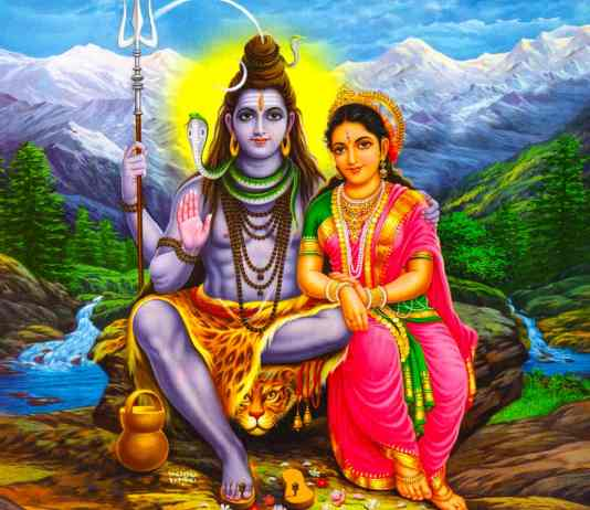 Lord Shiva and Mata Parvati Sitting