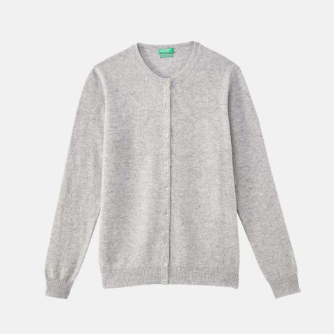 Cardigan lana grigio - Benetton