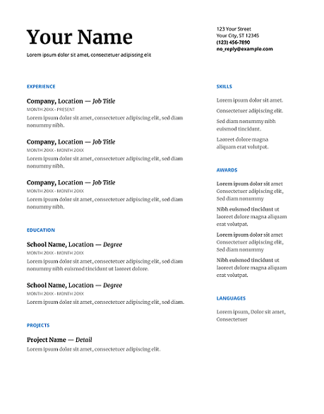 Serif-Google-Docs-Resume-Template