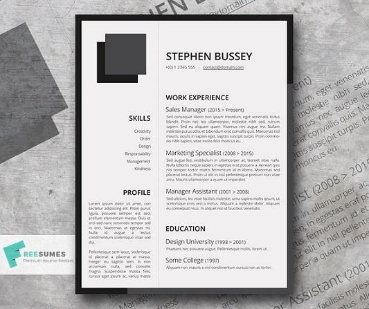 fresty-resume-template