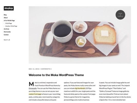 Elmastudio Moka WordPress Theme