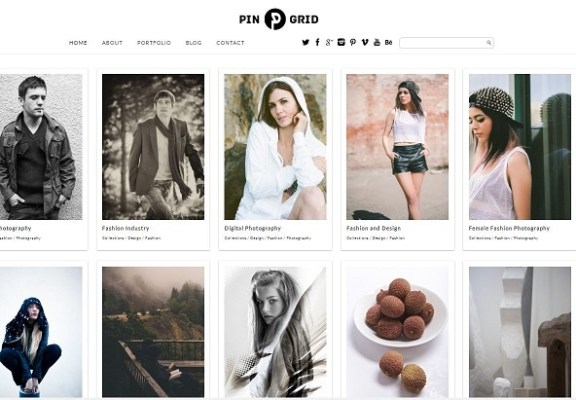 dessign pin grid responsive wordpress theme