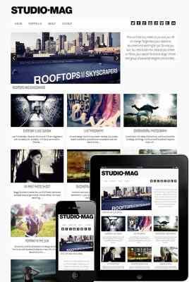 dessign studio mag responsive wordpress theme