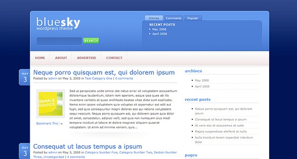 Elegant Themes BlueSky WordPress Theme 1