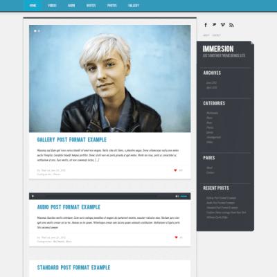 Graph Paper Press Immersion WordPress Theme