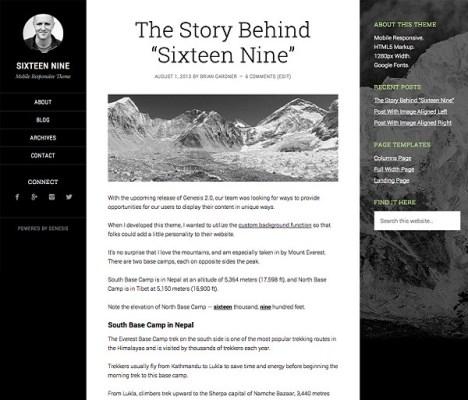 StudioPress Sixteen Nine Pro WordPress Theme