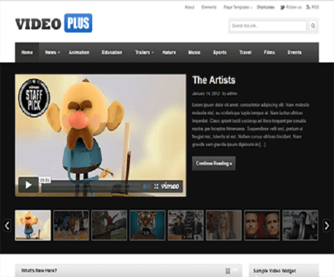 VideoPlus WordPress Theme 1
