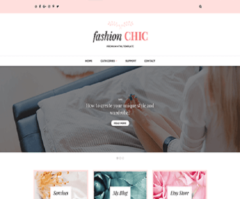 fashion chic wordpress theme