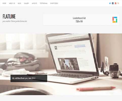 flatline wordpress theme