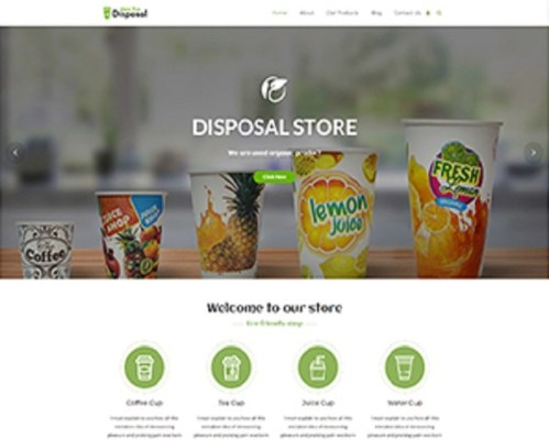 Premium Moto Theme Eco Disposal Store