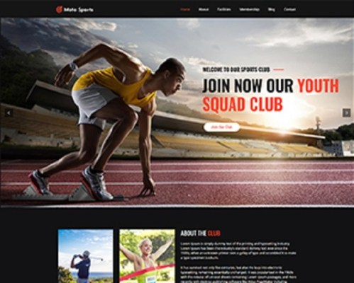 Premium Moto Theme Sports Club