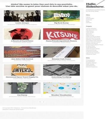 ThemeZilla Sideshow WordPress Theme