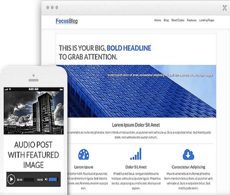 thrive theme focusblog wordpress theme