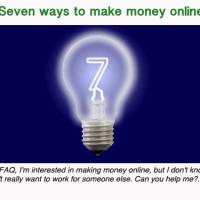 Seven ways to make money online