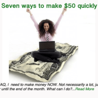 Seven ways to make $50 quickly