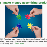 Can I make money assembling products at home?