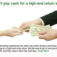 Don't pay cash for a high-end return shop