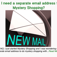 Do I need a separate email address for Mystery Shopping?