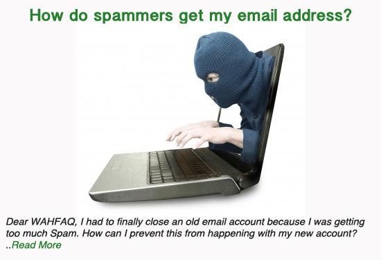 How do spammers get my email address?