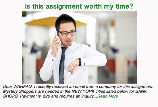 Is this Mystery Shopping assignment worth my time?