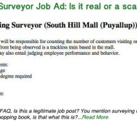 Mall Surveyor Job Ad: Is it real or a scam?