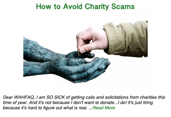 How to Avoid Charity Scams