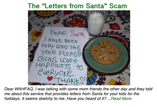 "The ""Letters from Santa"" scam"