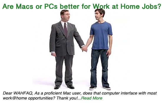 Which is better for work at home jobs: Macs or PCs?