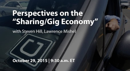 """Perspectives on the """"Sharing/Gig Economy"""""""