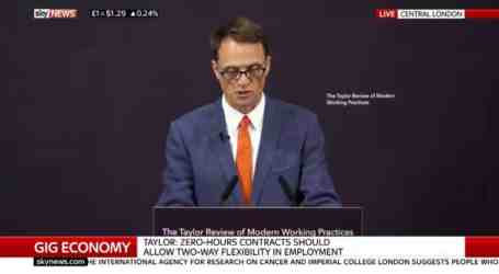 Taylor review: report into the gig economy and workers' rights receives muted response