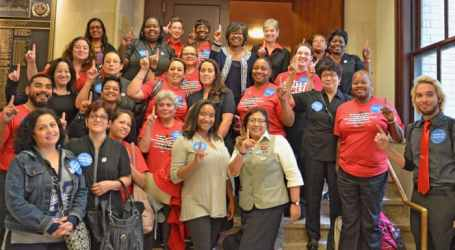 Unions mobilizing against sexual harassment in hotels and restaurants: We are not on the menu/Hands off pants on
