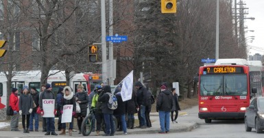 carleton universitys staff on the picket lines in defence of pensions