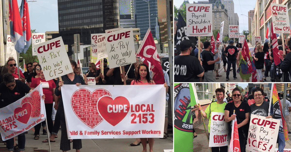 Province of Manitoba causing CFS workers to endure massive delay in pay next month
