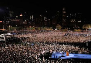 One million rally in Chicago.