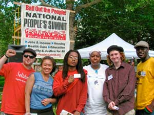FIST delegation in Detroit. LeiLani Dowell,<br>second from left.