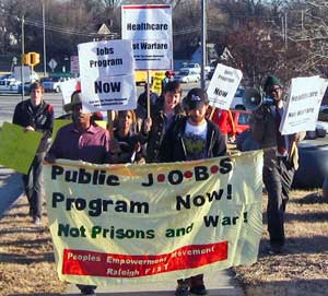 Marching for jobs, Jan. 15.