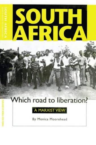 Book Cover: South Africa: Which road to liberation